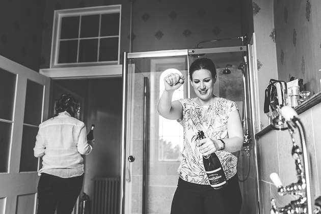 Bridesmaid Champage Cork Popping