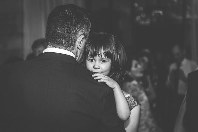 Child held during wedding disco