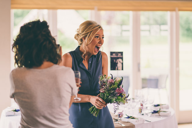 Excited bride at Hyde Barn