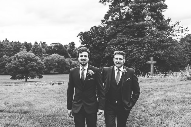Father and Groom in Black and White