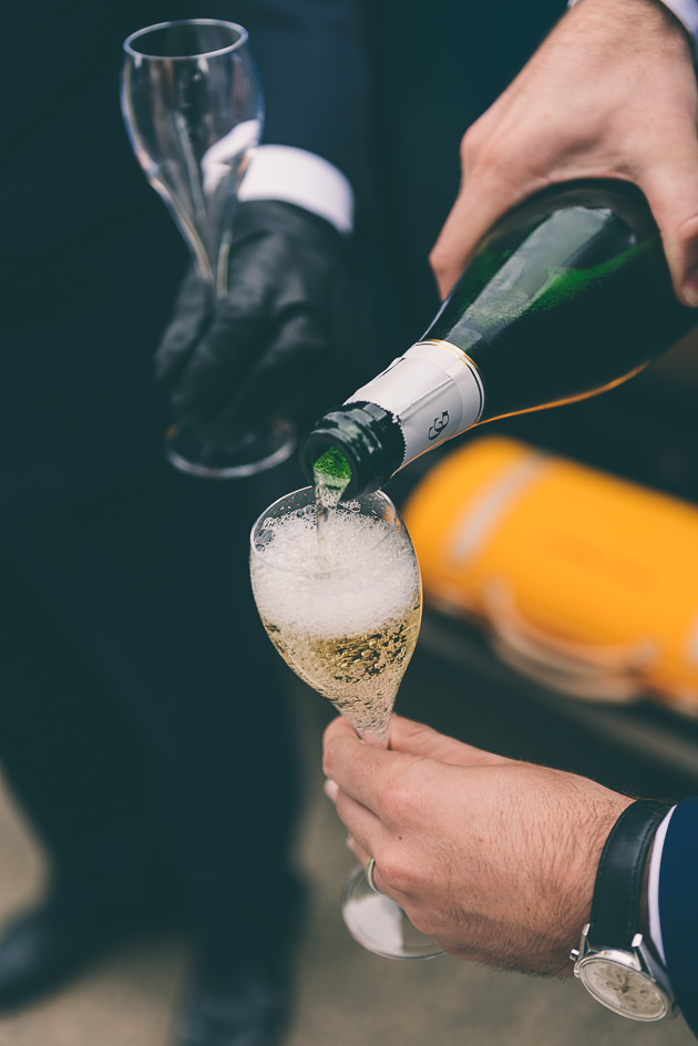 Hyde House Wedding Champagne