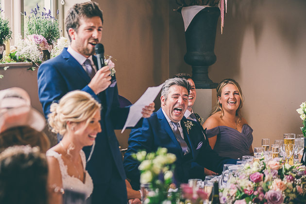 Laughter during speeches at Hyde House