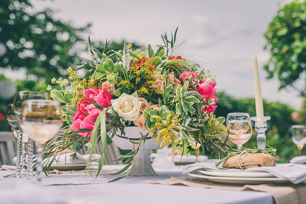 Table arrangements at Dryhill