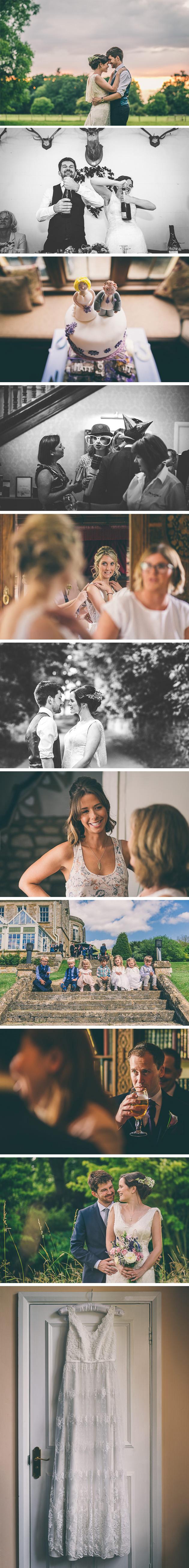 Bridesmaid talking to bride during prep