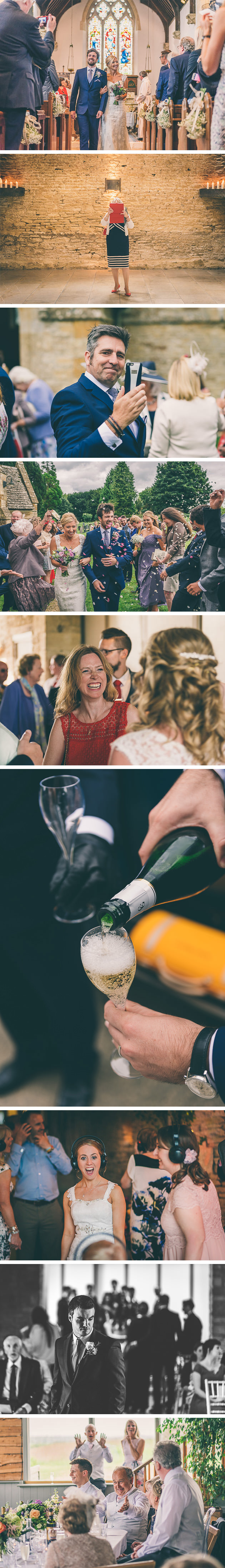 Pouring prosecco at a wedding