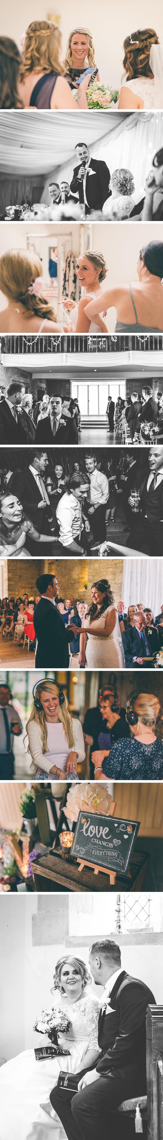 Exchanging rings during wedding