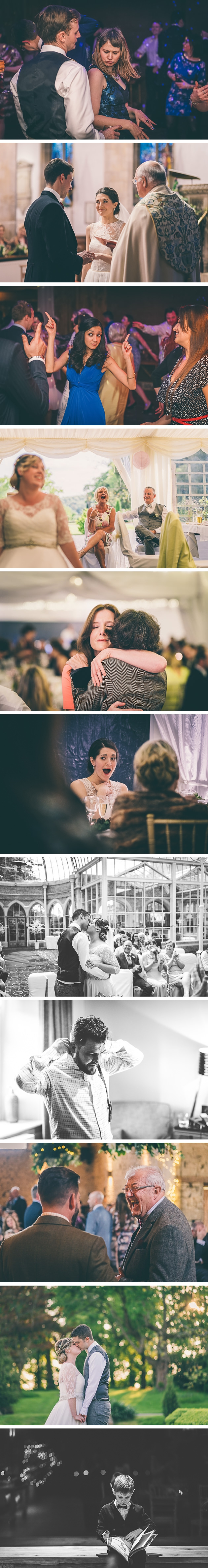 Guests laughing at a wedding during the drinks reception
