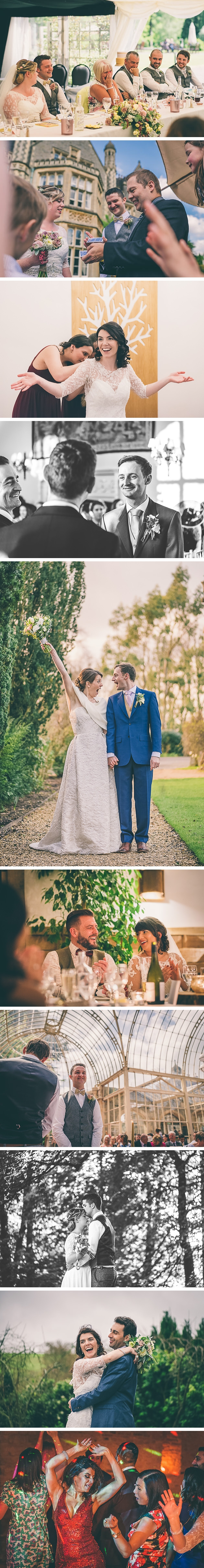Couples posing at Elmore Court