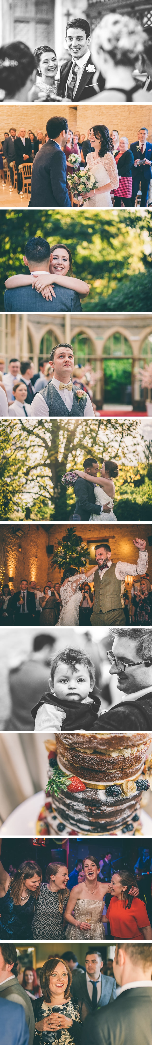 Bride and groom dancing at Cripps Barn