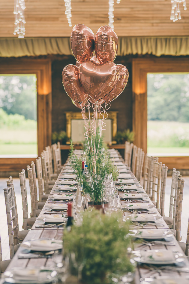 Wedding decor at Elmore Court