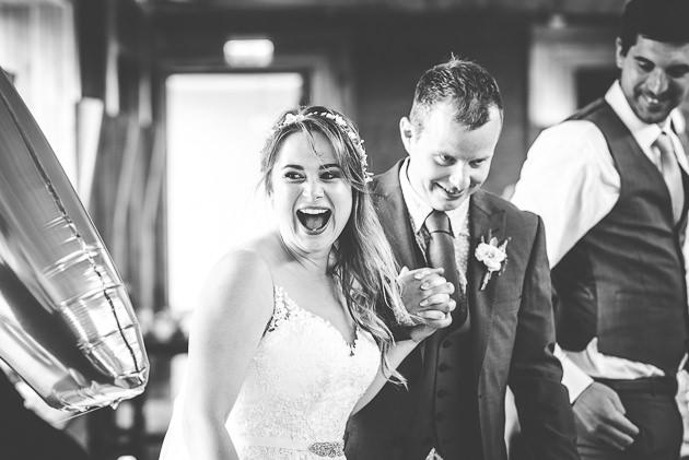 Bride and Grooms entrance to wedding reception