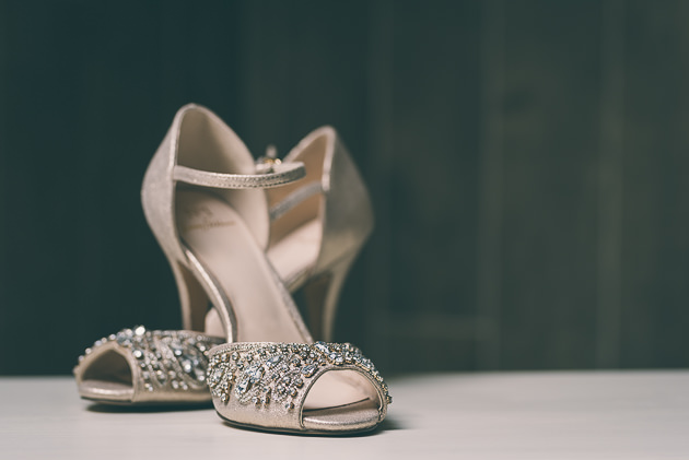 Wedding Shoes on Table