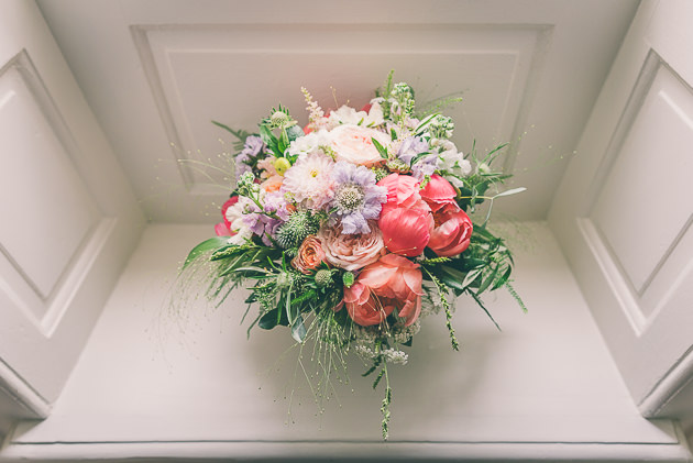 Wedding bouquet in natural light
