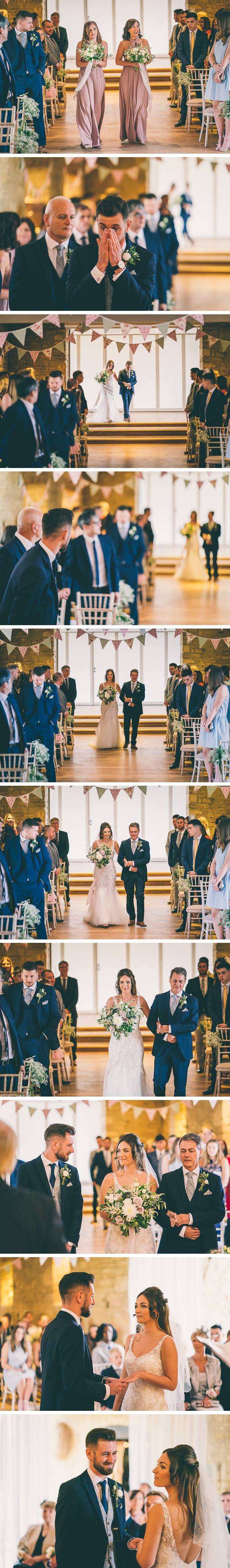 Bridal Party Entrance at Great Tythe Barn