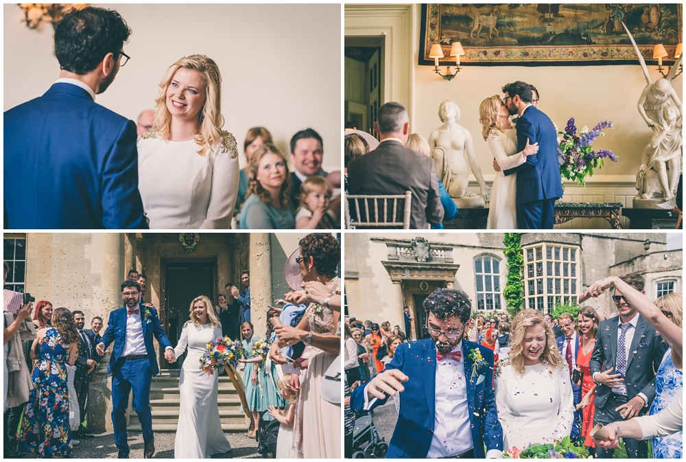 Wedding Ceremony in the Great Hall at Elmore Court