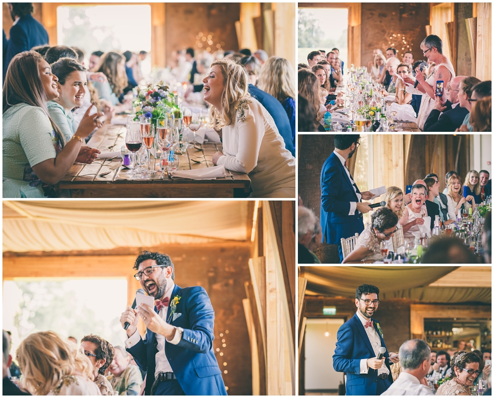 Speeches during the wedding breakfast