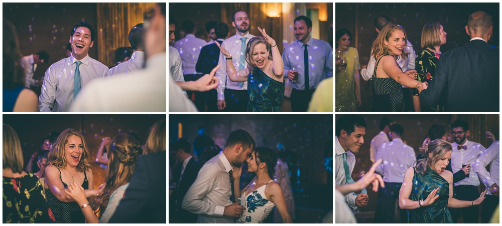 Wedding guests dancing at the Gillyflower