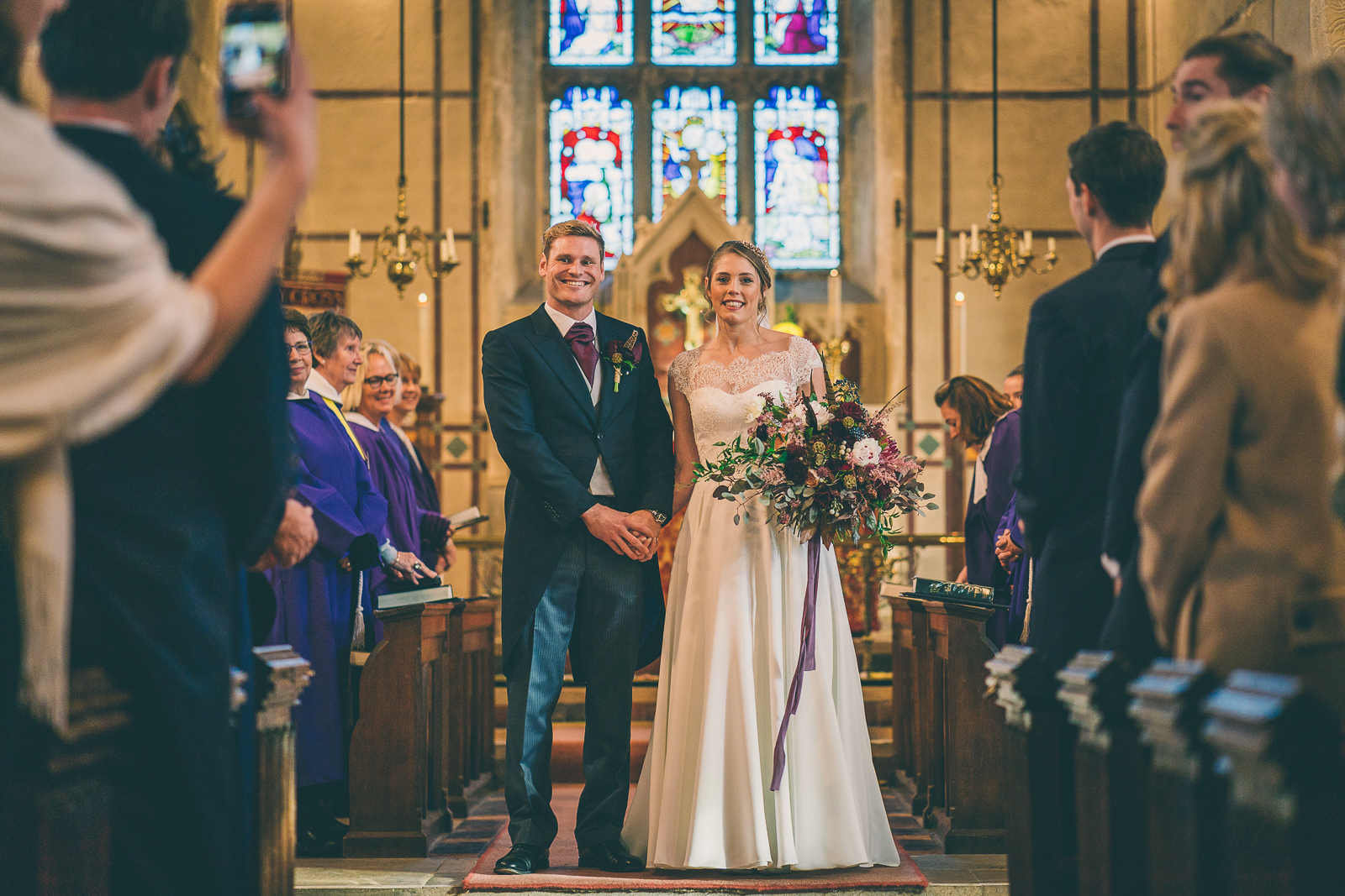 The Great Tythe Barn Winter Wedding – Bex & Johnny