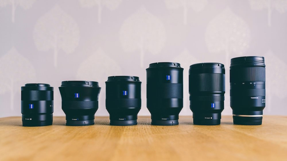 Sony Full Frame Wedding Lenses Container